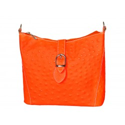 Woman leather bag neon look...