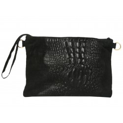 Leather suede clutch /...