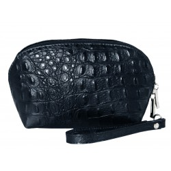 Italian leather makeup bag...