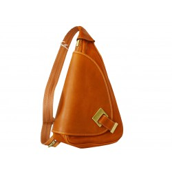 Italian woman leather backpack