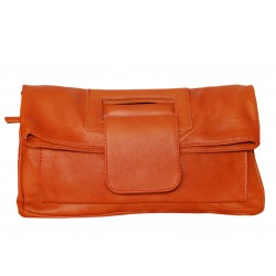 Italian leather clutch bag...