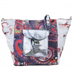 Handbag made of fabric and...