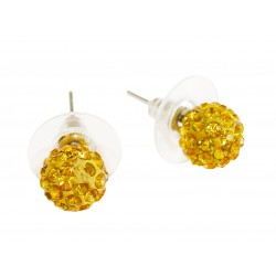 Stud earrings with yellow...
