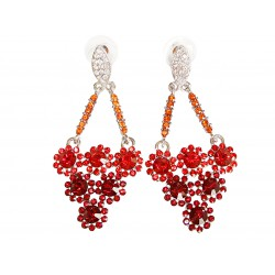 Woman dangle earrings red