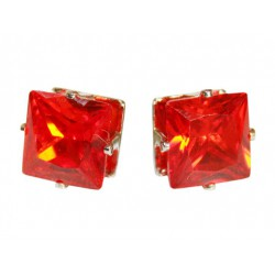 Stud earrings with orange...