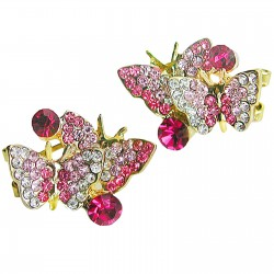 Woman earrings butterfly...