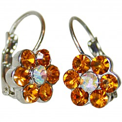 Earrings flower with orange...