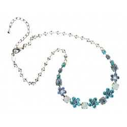 Necklace blue with rhinestones