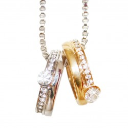 Necklace gold silver