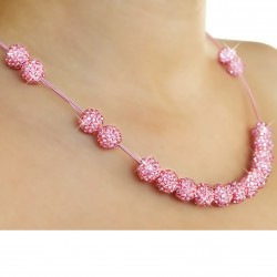 Necklace with pink ball...