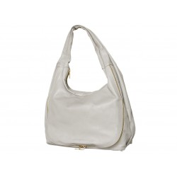 Leather bag gray made of...
