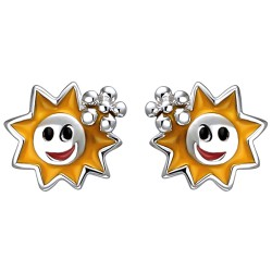 Children stud earrings sun...